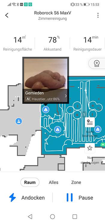 Roborock-Home-App-Roborock-S6-MaxV-Test-Objekterkennung-3