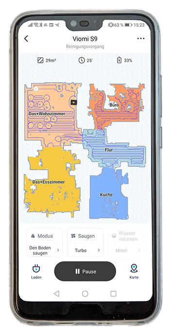 Viomi-S9-Saugroboter-Smaartphone-app-350
