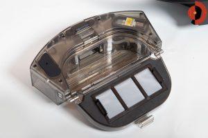 Viomi-S9-Saugroboter-Test-Schmutzbehaelter-geoeffnet