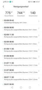 App-Trouver-Finder-Reinigungsverlauf