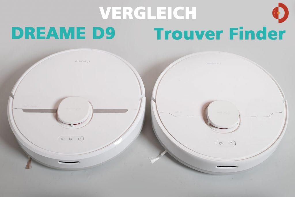 Vergleich-Trouver-Finder-Dreame-D9-Oberansicht